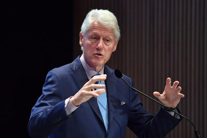 Former US President Bill Clinton speaking at the Town & Country Philanthropy Summit in New York City on May 9, 2018.