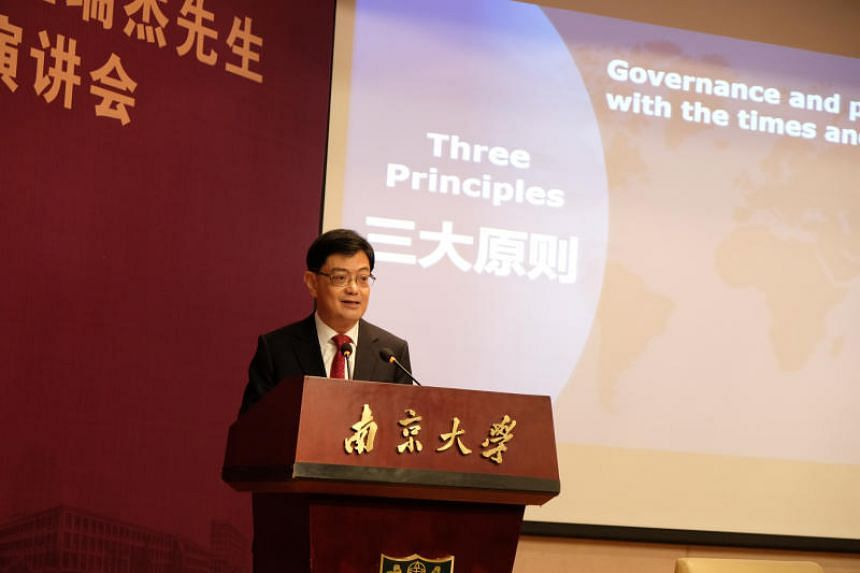 Finance Minister Heng Swee Keat said that free trade agreements and regional trade agreements were important building blocks for such an open, liberal system.