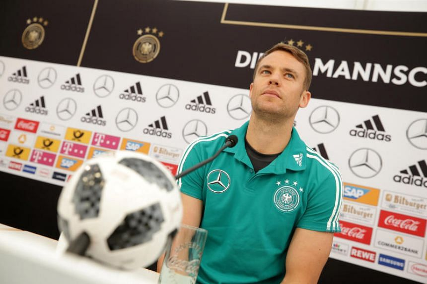 Germany's Manuel Neuer made the squad despite playing in just one official game since breaking a bone in his foot in September.