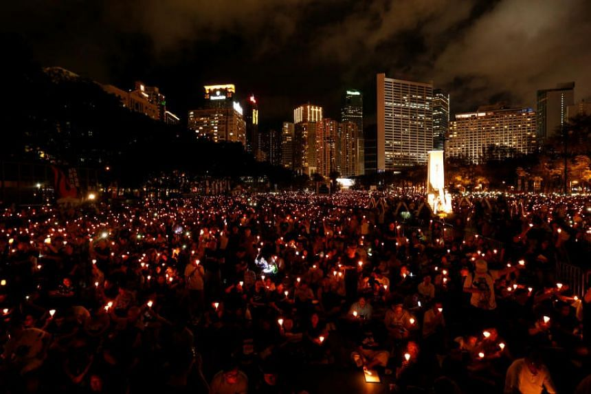 Hong Kong has seen tens of thousands gather at the annual candlelit vigil in Victoria Park since 1990.
