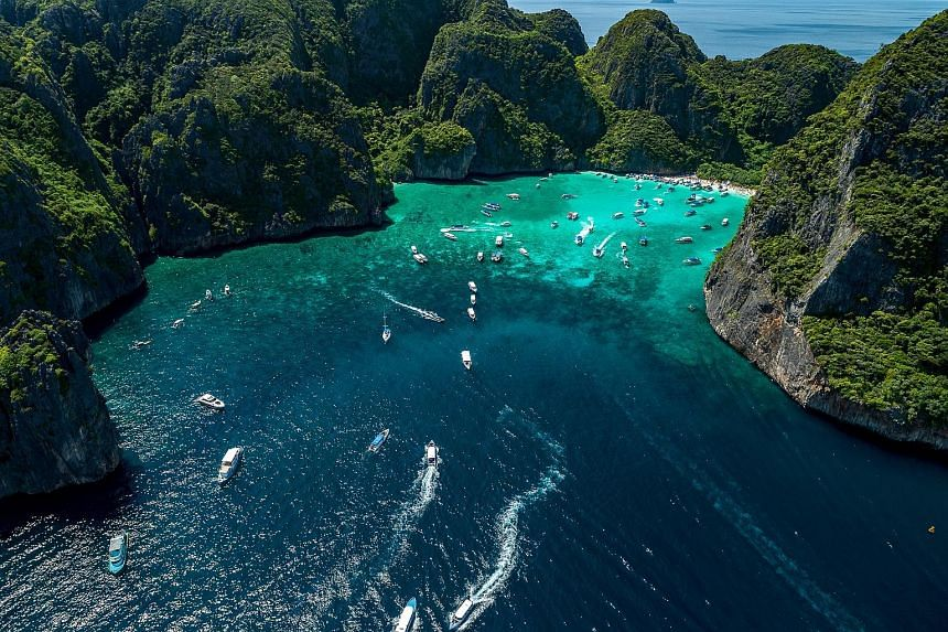 Maya Bay, the world-famous tourist destination that is part of the Phi Phi Islands in the Andaman Sea, will be closed for a much-needed rejuvenation starting this month. When Maya Bay reopens in October, only 2,000 tourists a day will be allowed on i