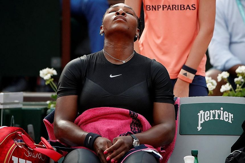 Serena Williams, playing in her first Grand Slam after the birth of her daughter last year, said she first felt the arm injury flare up during her third-round win over German 11th seed Julia Gorges last Saturday.