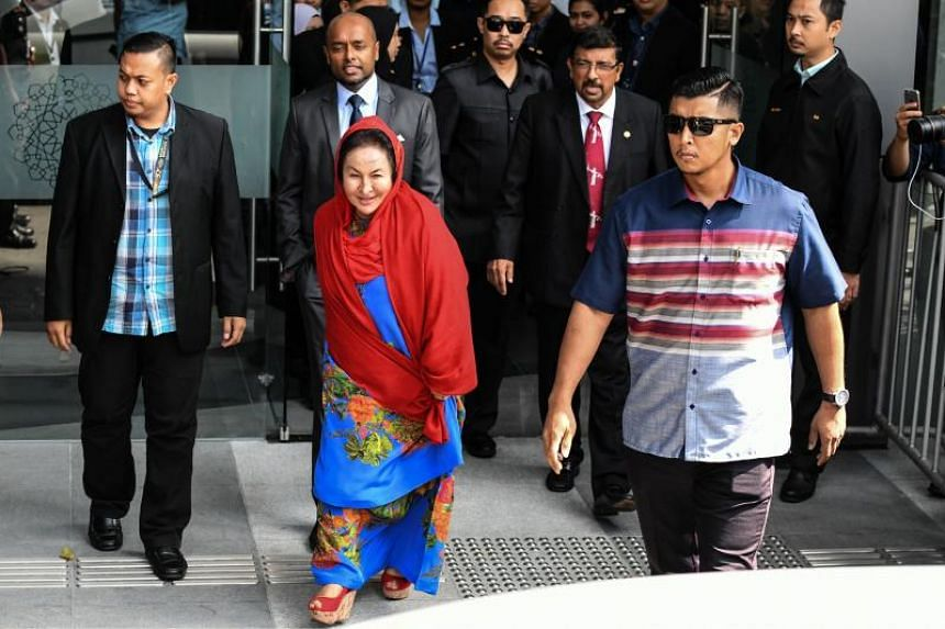 Madam Rosmah Mansor, wife of Malaysia's former prime minister Najib Razak, showed no sign of being discomfited as she left the Malaysian Anti-Corruption Commission building.