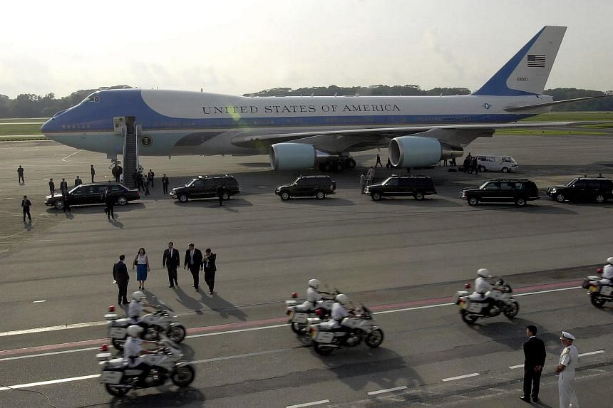 The Air Force One at Paya Lebar Airbase when US President George Bush visited Singapore in October 2003.