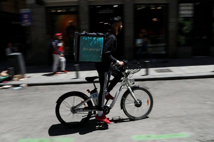 File photo showing Deliveroo rider in Madrid, Spain, on June 4, 2018.