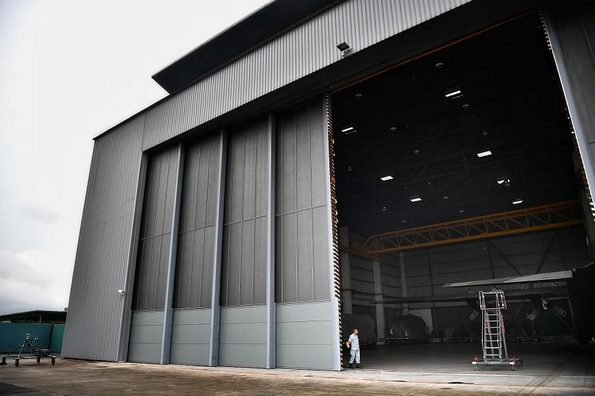 File photo showing a hangar located at Paya Lebar Airbase. Security experts say the military base is the most optimal location to accommodate Air Force One.