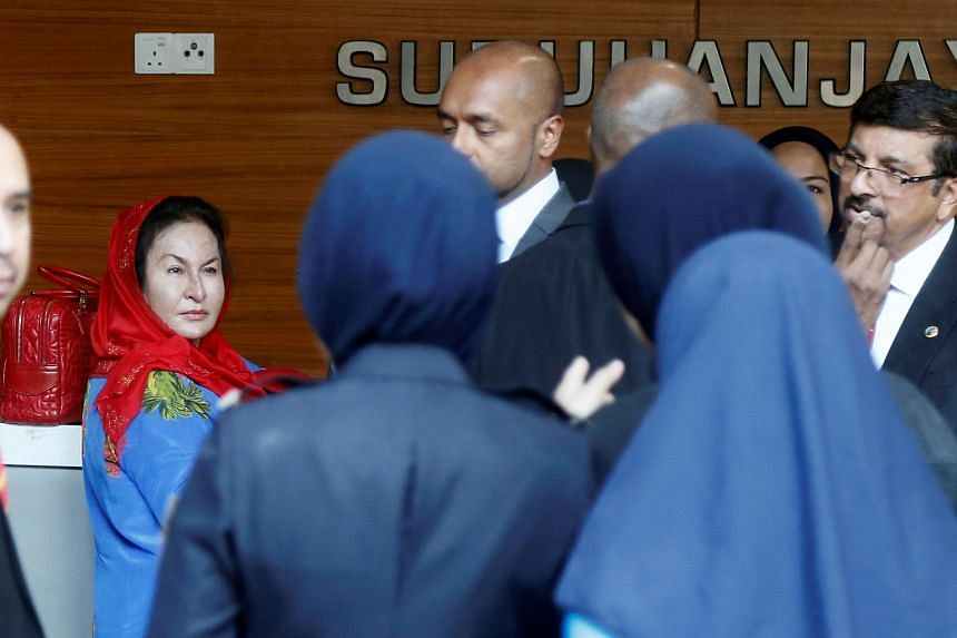 Madam Rosmah's attendance at the Malaysian Anti-Corruption Commission comes two weeks after her husband was called up to have his statement recorded.