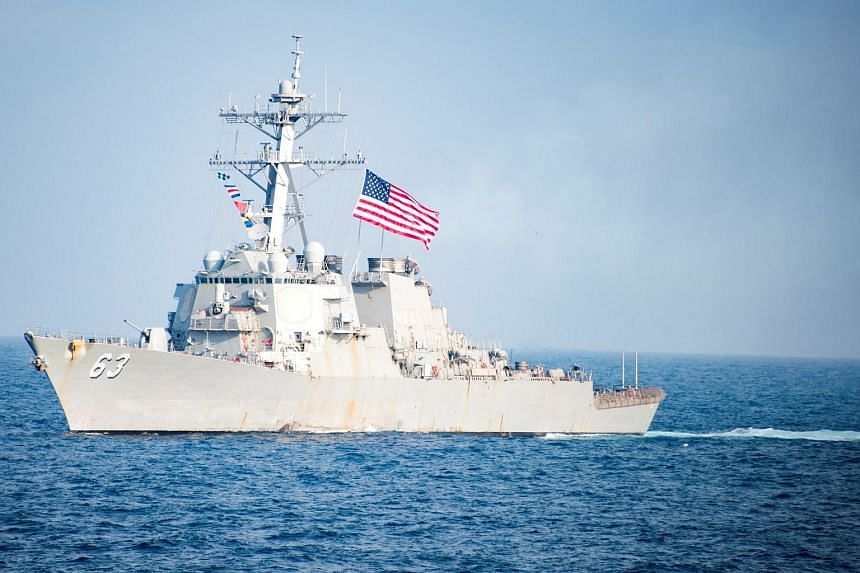 File photo showing the Arleigh Burke-class guided-missile destroyer USS Stethem in waters east of the Korean peninsula, on March 22, 2017.