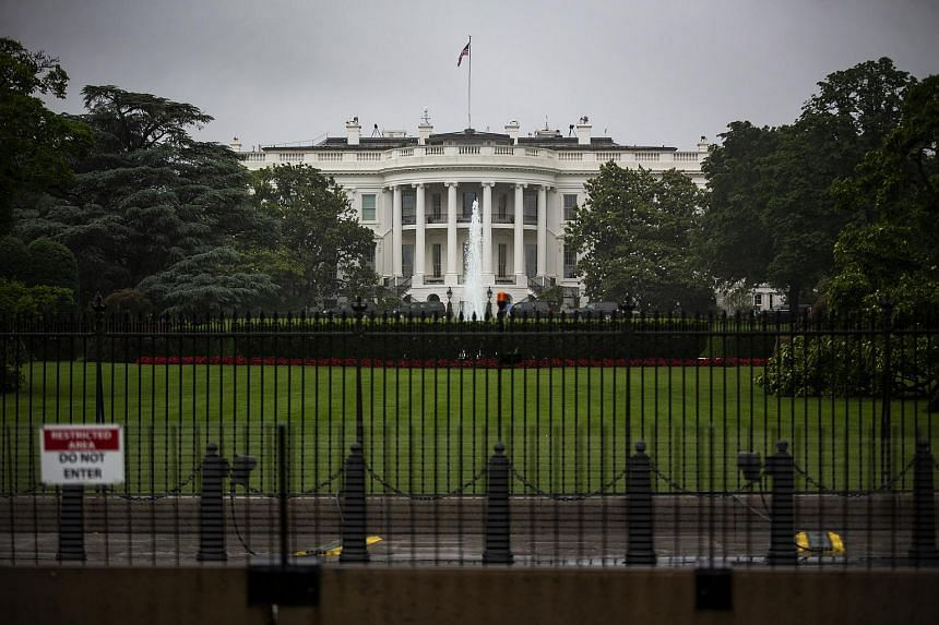 File photo showing the White House, the official residence and workplace of Us President Donald Trump, located in Washington, DC.