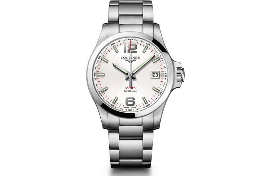 In the lead-up to the French Open finals, Longines is giving away a Conquest V.H.P. in a contest for subscribers of The Straits Times.
