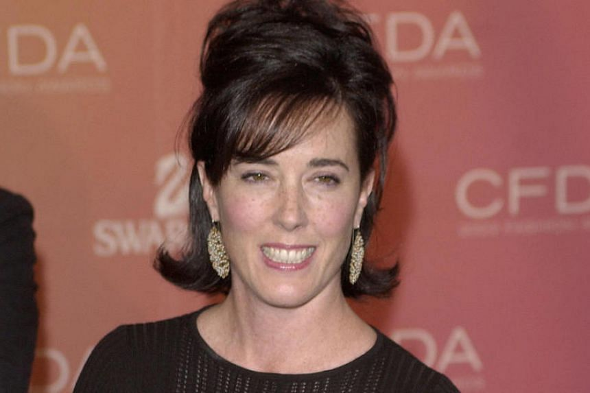 Kate Spade arrives at the Council of Fashion Designers of America awards in New York on June 2, 2003.