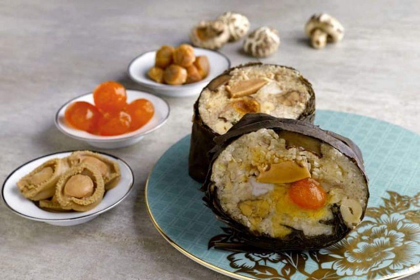Hua Ting Restaurant's signature Hong Kong-style rice dumpling ($32.80).