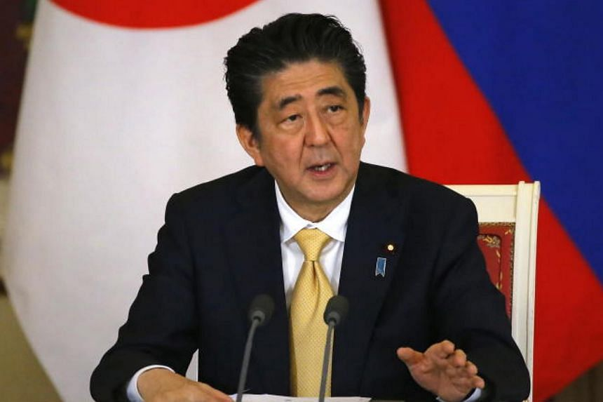 Japanese Prime Minister Shinzo Abe (pictured) has spoken to US President Donald Trump 30 times since he became president, including eight face-to-face meetings.