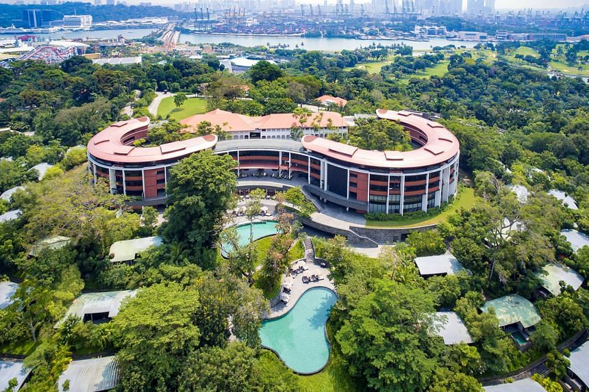 A photo of Capella Hotel in Sentosa seen in a photo released on June 5, 2018.