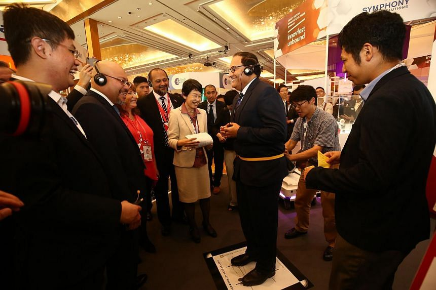 Minister for Communications and Information S. Iswaran at the opening ceremony of InnovFest Unbound, the anchor event of the Smart Nation Innovations Week held at the Marina Bay Sands Expo and Convention Centre.