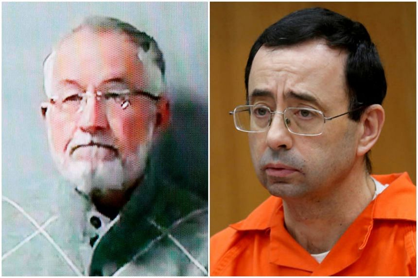 William Strampel (left) is the former dean of Michigan State University's College of Osteopathic Medicine, where serial sexual abuser Larry Nassar practiced sports medicine.