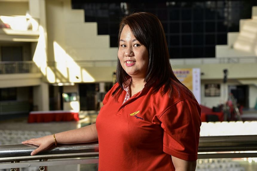 Miss Kelly Goh, 25, had to live with the guilt and trauma of seeing her father fall eight storeys to his death.
