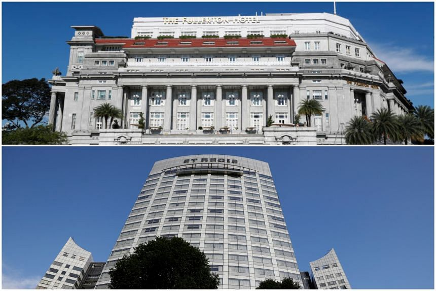 North Korean leader Kim Jong Un is reportedly planning to stay at a luxurious hotel such as the Fullerton (top) or the St Regis, reported Yonhap News Agency.