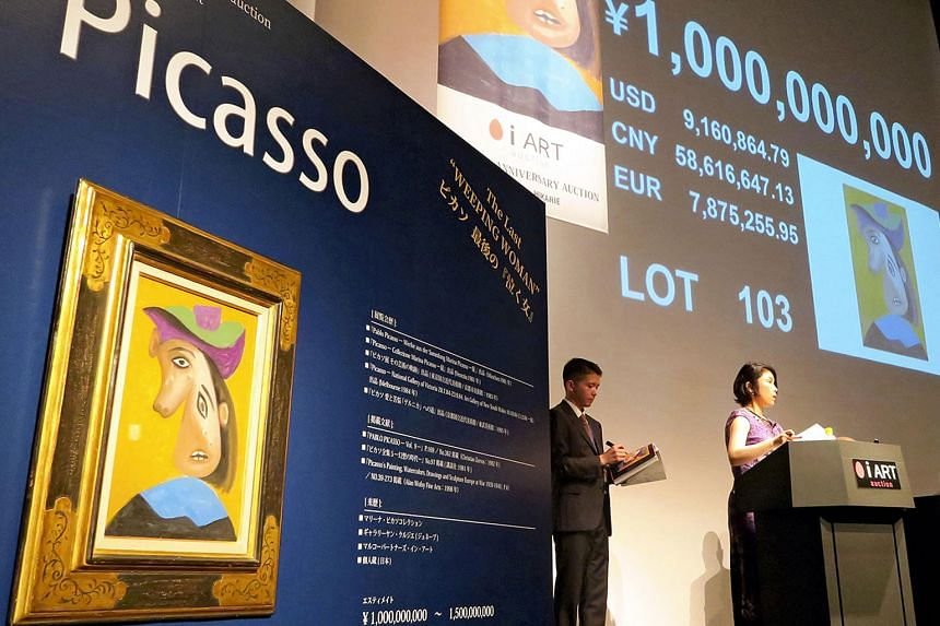 Pablo Picasso's Weeping Woman, an oil painting, was sold for one billion yen (S$12.2 million) in Tokyo over the weekend.