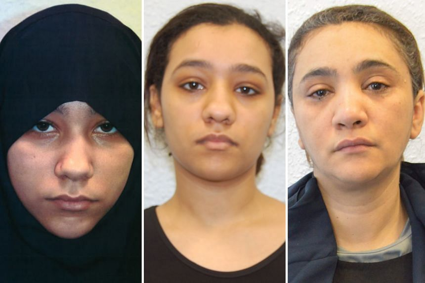 Britain's first all-female terror cell includes (from left) Safaa Boular, 18, who plotted an attack on the British Museum, her sister Rizlaine, 22, and their mother Mina Dich, 44, who had their own plan.