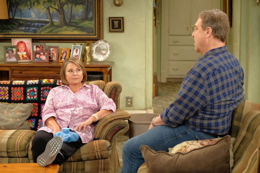 The show Roseanne, starring Roseanne Barr and John Goodman (both left), was axed last week after Barr posted a racist tweet.