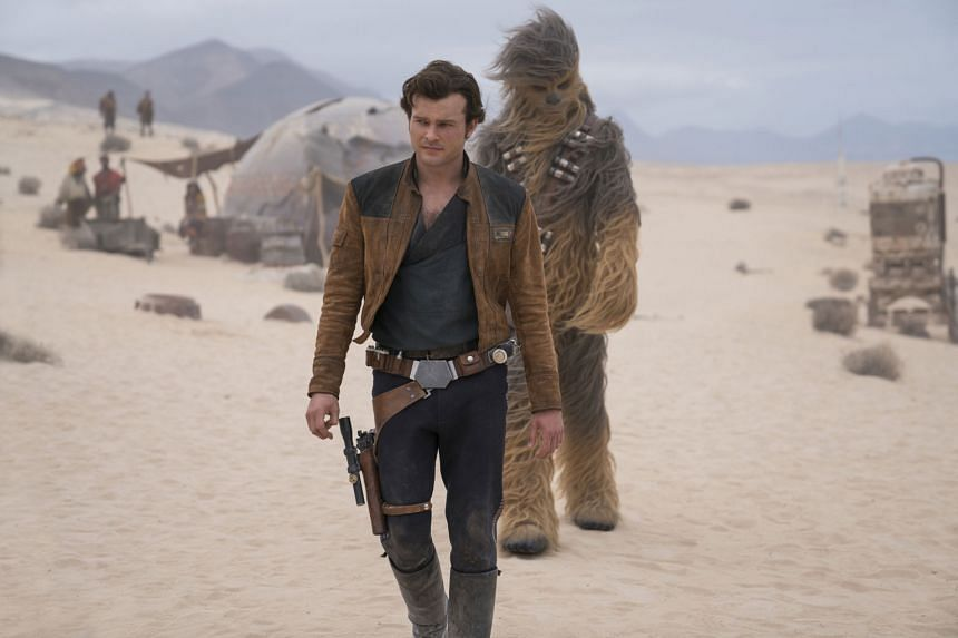 Solo: A Star Wars Story, which stars Alden Ehrenreich, collected $39.26 million in North American theatres over the weekend.