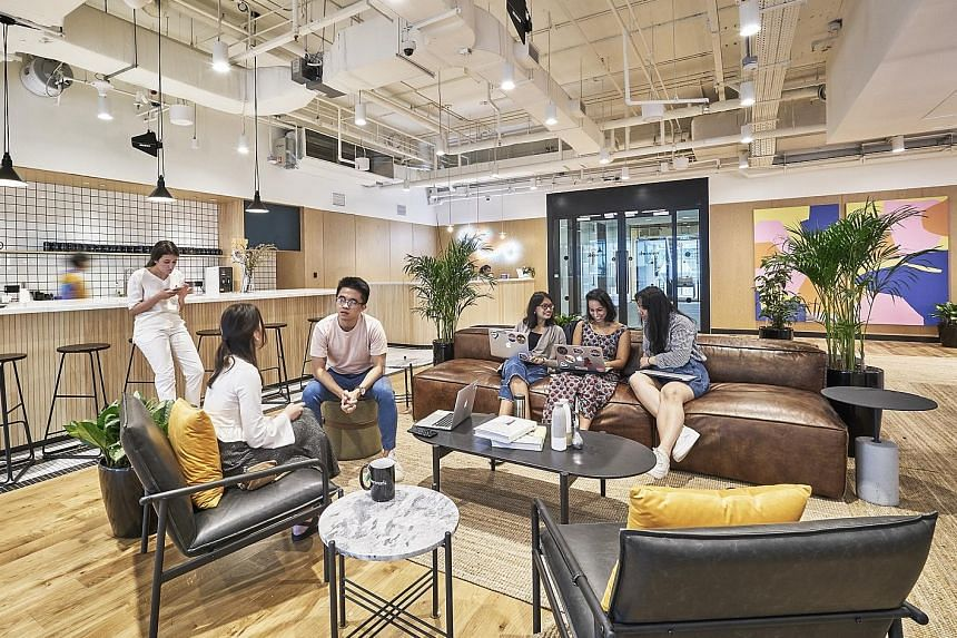 Co-working firm WeWork officially opened its second space here, which has around 1,400 seats and spans 60,000 sq ft, at 71 Robinson Road yesterday. The US giant's quick growth here, after it opened its first space at Beach Centre last December, is pa