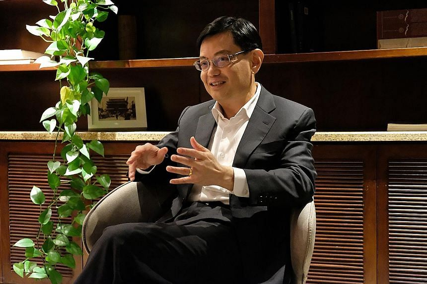 """Finance Minister Heng Swee Keat, who travelled to Beijing on Tuesday, discussed strategic projects with state councillor Xiao Jie yesterday in a """"very good meeting""""."""