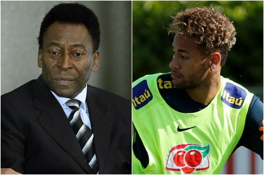 Three-time World Cup winner Pele (left) warned that Neymar would not be able to win the World Cup for Brazil on his own.
