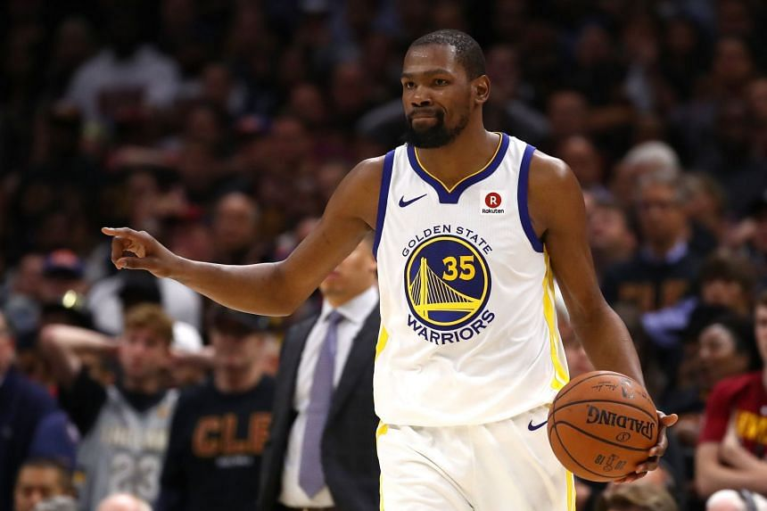 a96c54a740d Kevin Durant of the Golden State Warriors in action against the Cleveland  Cavaliers in the second