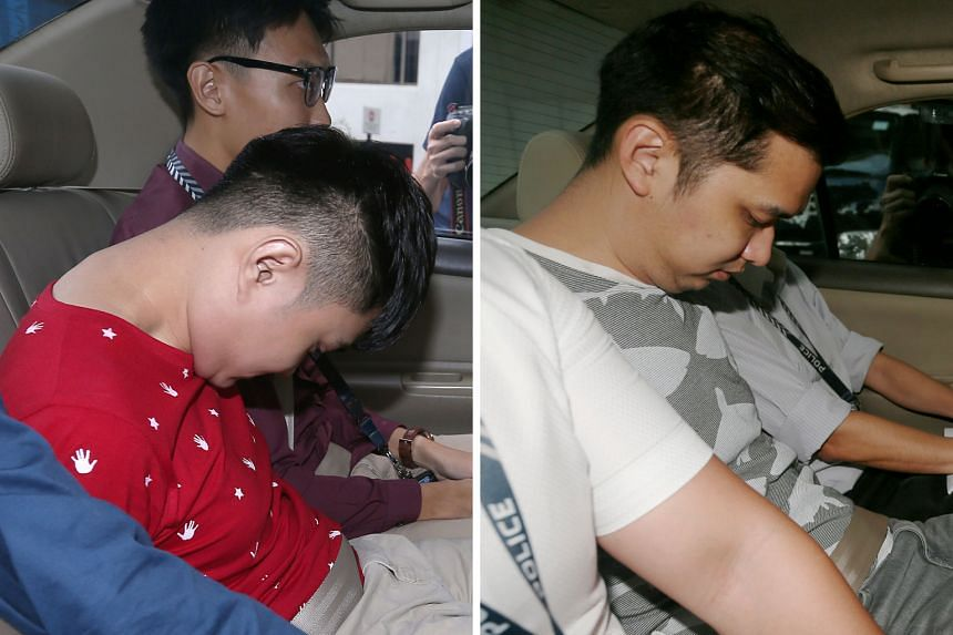 Malaysians Poon Hong Kuan (left) and Chow Zhi Hong (right) were nabbed on Monday over their alleged involvement in scams where con artists impersonated officials from China to extort money from people.