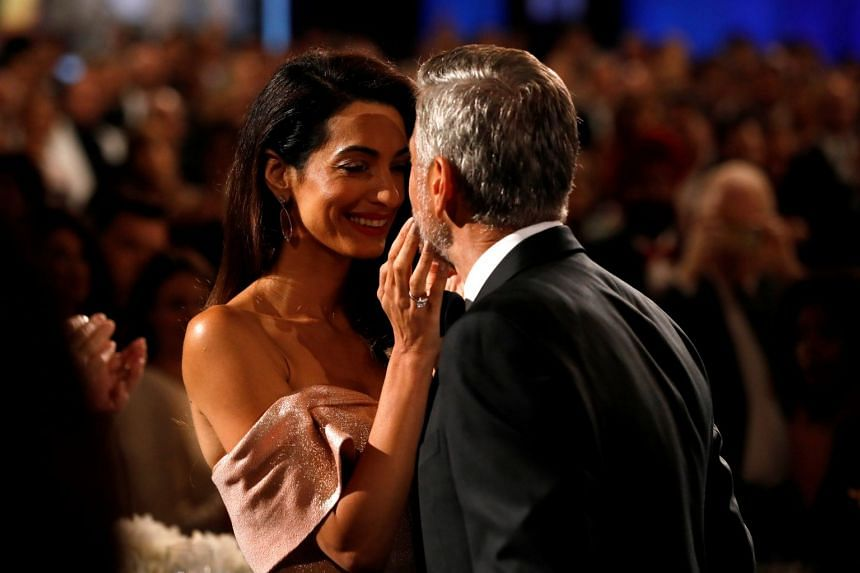Actor George Clooney and his wife Amal at the 46th AFI Life Achievement Award Gala.