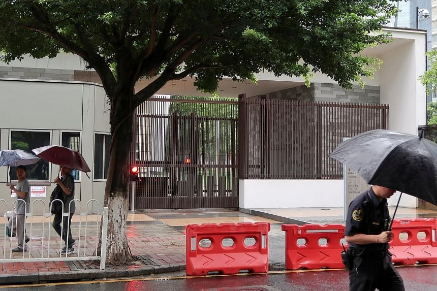 The US Consulate in Guangzhou. The latest round of evacuations was the first sign that the unexplained ailments have now broadened.