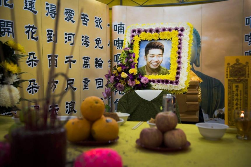 The wake of Mr Jake Seet Choon Heng, 33, a commercial diver.