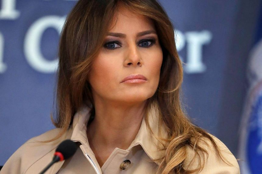 US First Lady Melania Trump appearing at a public event for the first time in almost a month in Washington, US, on June 6, 2018.