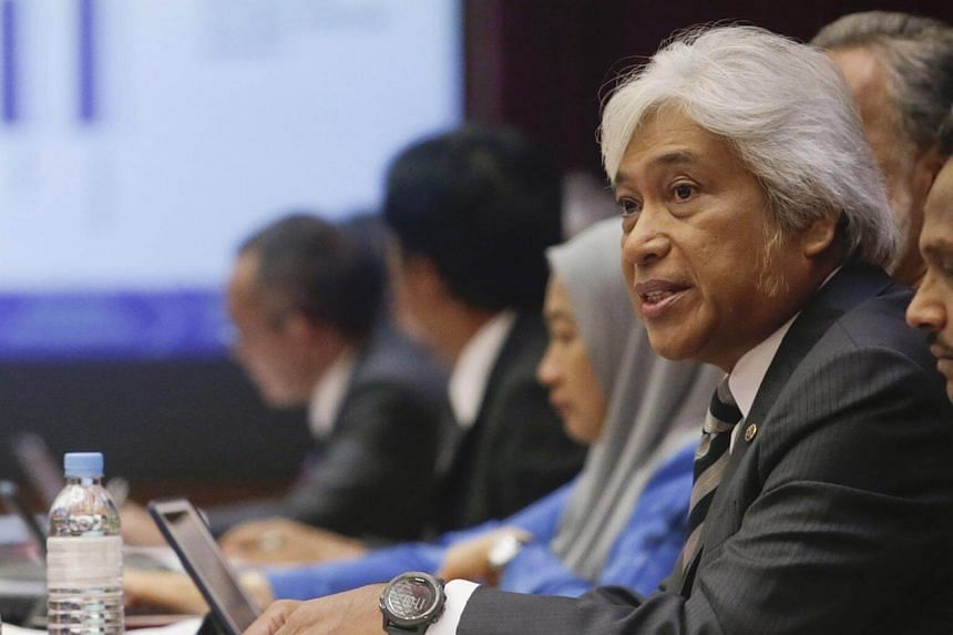 Governor of the Central Bank of Malaysia Muhammad Ibrahim speaks during the 2017 gross domestic product press conference at the bank's headquarters in Kuala Lumpur, Malaysia, on May 19, 2017.