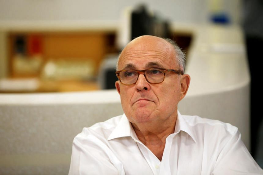 US President Donald Trump's attorney Rudy Giuliani during a visit at the Hadassah Medical Center in Jerusalem, on June 7, 2018.