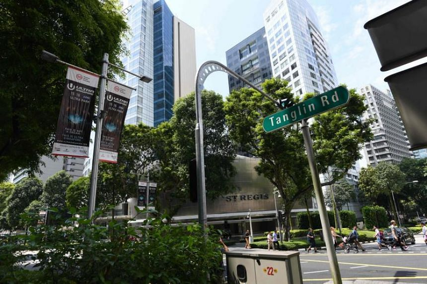 The affected roads include areas around the St Regis Hotel, such as Tanglin Road, Tomlinson Road and Cuscaden Road, which will be closed from June 9 to 14, 2018.