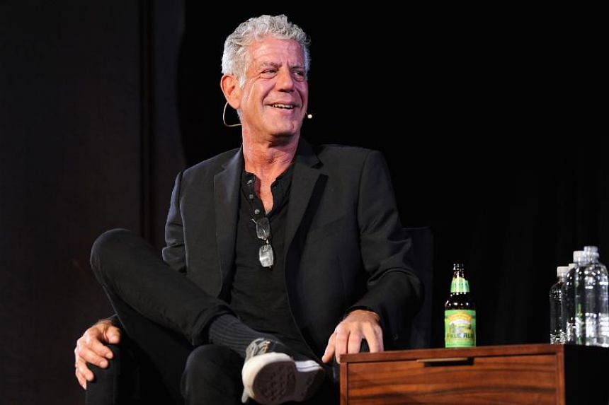 Chef Anthony Bourdain speaks onstage at New York Society for Ethical Culture in New York City on Oct 7, 2017.