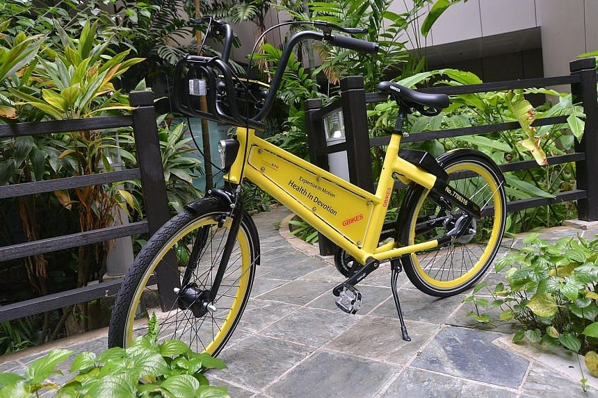 GBikes operated on a dockless system, in which users could unlock and rent bicycles through a mobile app, and return them to any parking space.