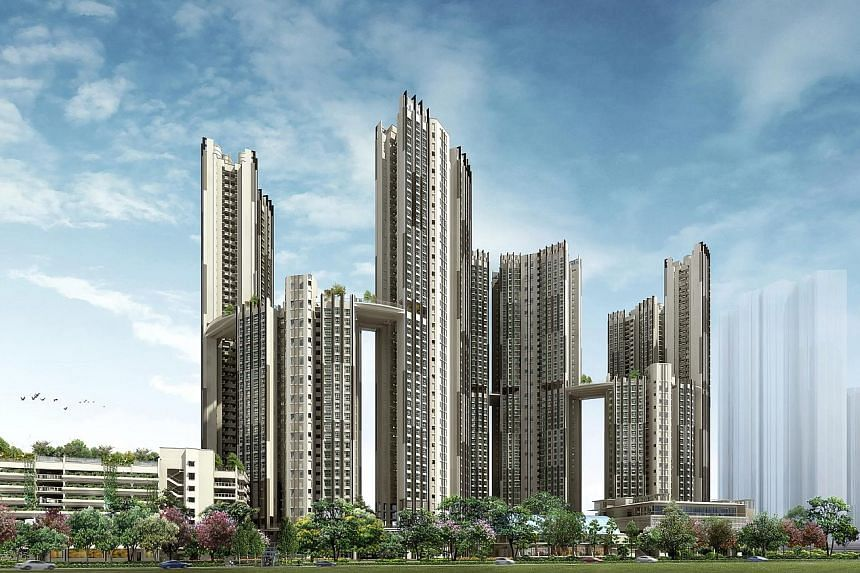SkyResidence @ Dawson, one of HDB's 21 Green Mark projects this year. HDB is the first public agency to receive the Green Mark Platinum Award.