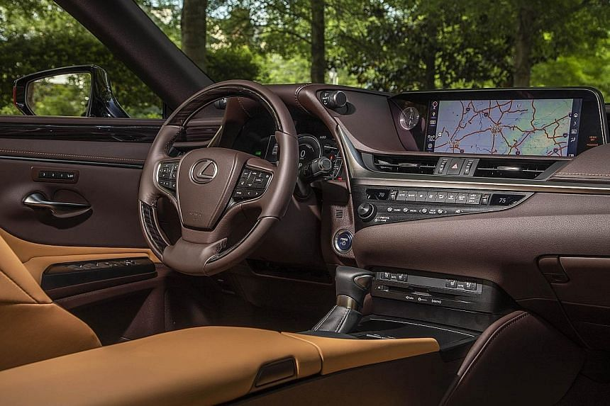 The Lexus ES offers a composed ride with little body roll.