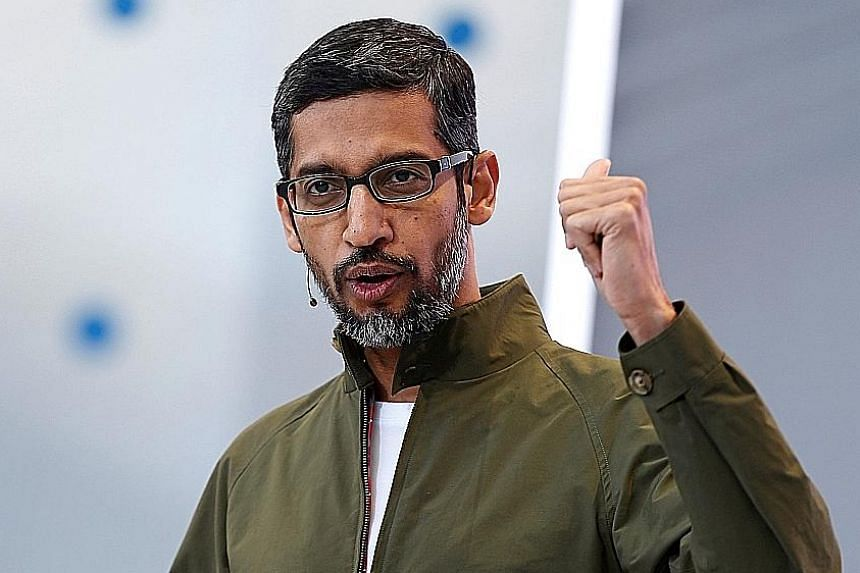 "Google CEO Sundar Pichai says the tech giant is using AI ""to help people tackle urgent problems""."