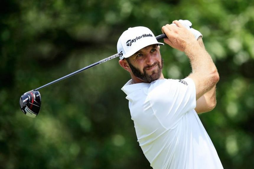 Dustin Johnson made a 110-yard eagle on his way to a one-stroke halfway lead at the St Jude Classic on June 8, 2018.