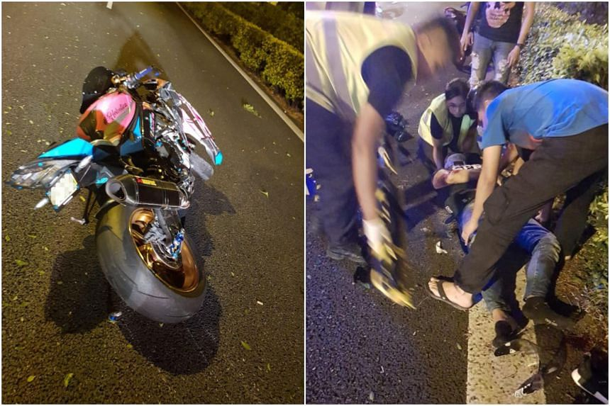 Two motorcyclists, aged 28 and 37, injured after an accident with a trailer along the Pan-Island Expressway on June 9, 2018. They were taken to Ng Teng Fong General Hospital, said a police spokesman.