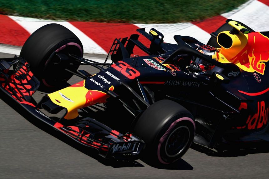 Verstappen driving during practice for the Canadian Grand Prix.