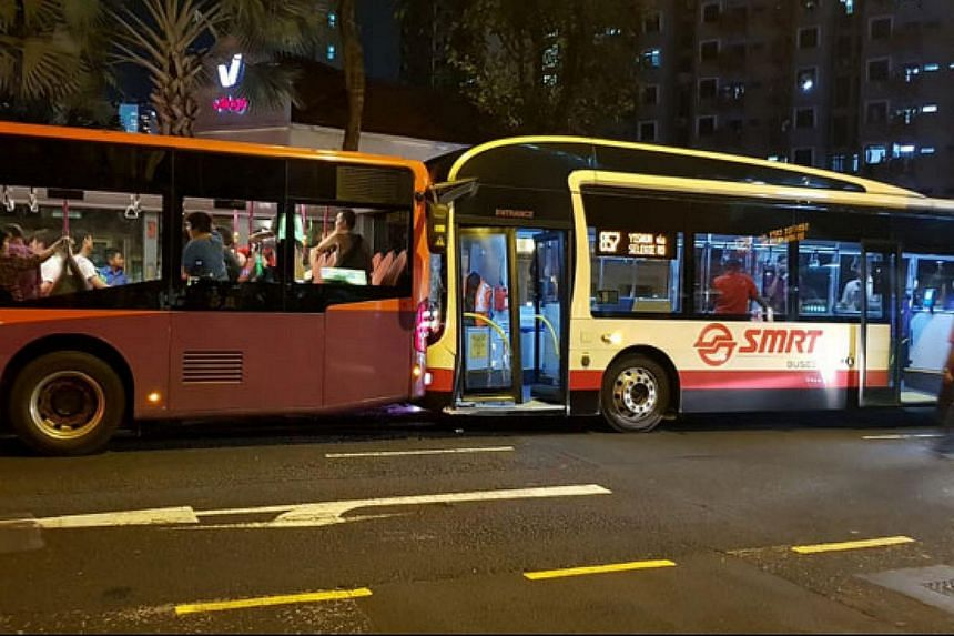 SBS Transit bus service 64 and SMRT bus service 857 collided along Selegie Road on June 8, 2018. Eleven passengers were injured, with two taken to Tan Tock Seng Hospital.
