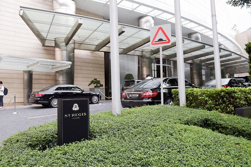 The refrigerator trucks are expected to make their way to The St Regis Singapore at Tanglin Road from the airport.