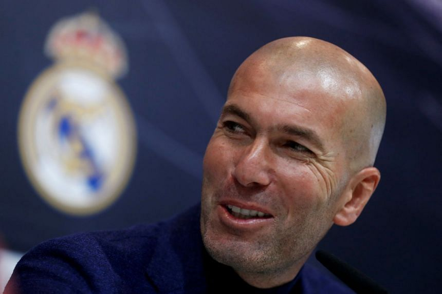 Real Madrid coach Zinedine Zidane during a news conference in Madrid, on May 31, announcing his resignation.