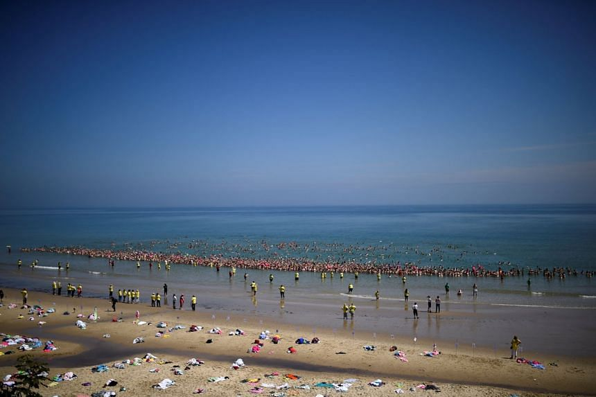 Over 2,500  women break the world record for the largest number of people skinny dipping together near Wicklow, Ireland.